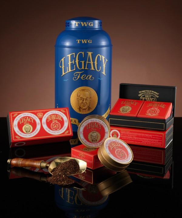 Heritage Tea Set with Legacy Tea Hand Painted Tea Tin