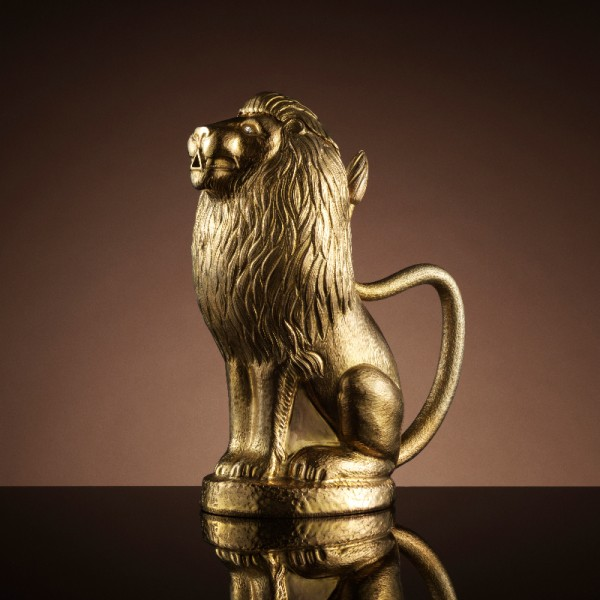 Lion Teapot in Gold